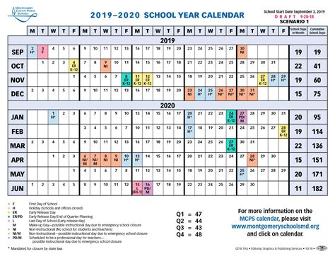 proposed upcoming mcps calendar silver chips
