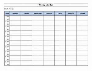 Monthly work schedule template excel example of for Microsoft office weekly schedule template