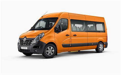 renault grey master bus long wheel base renault