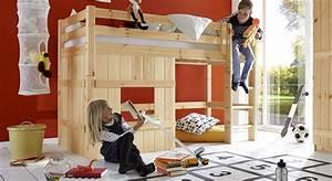 Kinderhochbett Mit Rutsche Günstig Kaufen : h tten hochbett mit spielhaus aus kiefer kids paradise basic ~ Bigdaddyawards.com Haus und Dekorationen