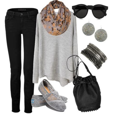How to Wear Black Skinny Jeans - 19 Inspiring Polyvore Outfit Ideas - fashionsy.com