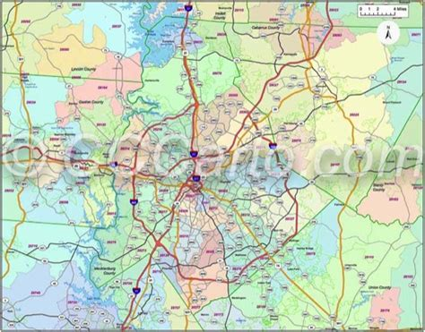 charlotte nc zip codes mecklenburg county nc zip code map