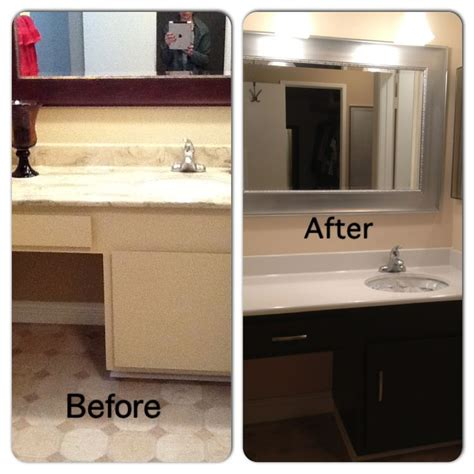 painted bathroom cabinets before and after before and after bathroom diy painted laminate counters