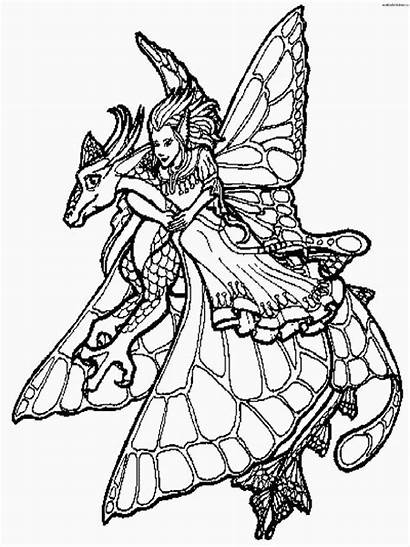 Coloring Dragon Pages Realistic Adults Clipart Library