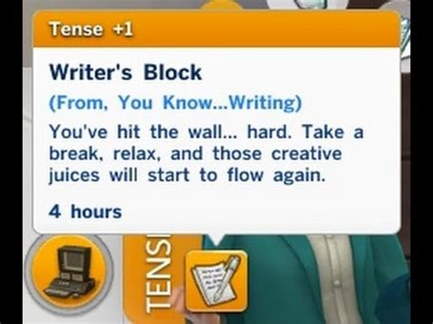 The Sims 4  How To Solve The Writer's Block Aspiration Youtube