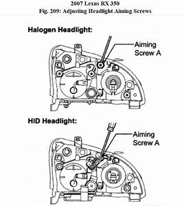 Headlamp  How To Adjust The Headlamps On My Rx350 Lexus 2007