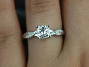 simple wedding sets tressa 6mm 14kt white gold cushion fb moissanite and twist engagement ring other metals