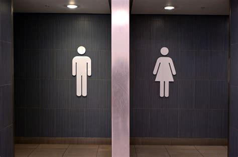 Girl Public Mens Bathroom