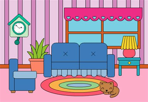 Living Room Clipart by Living Room Clipart Pencil And In Color Living Room