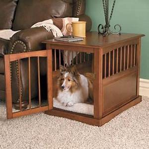 Dog crate end table for the basement pinterest for How to build a dog crate end table