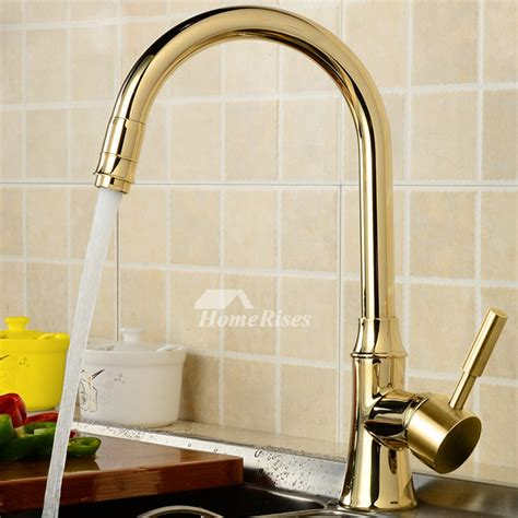 kitchen faucets  sale gooseneck gold polished brass