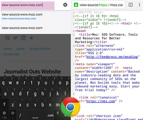 how to view website html css source code android