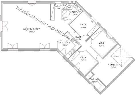 plan de maison gratuit 4 chambres plan de maison traditionnelle gratuit plan maison plain