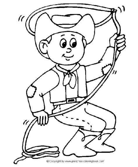 cowboy kleurplaat lasso