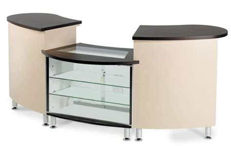 salon reception desk with glass display good glass display cabinets counter and reception desk for