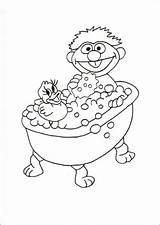 Coloring Pages Bath Taking Fun sketch template