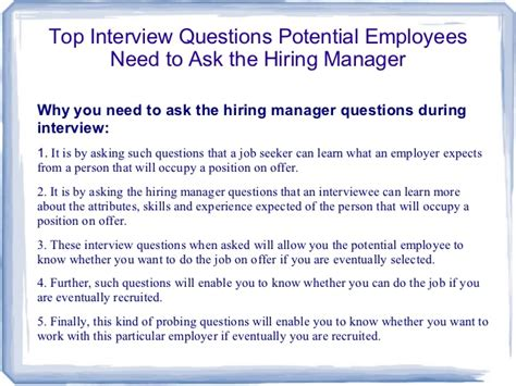 good questions to ask during a job interview top interview questions potential employees need to ask