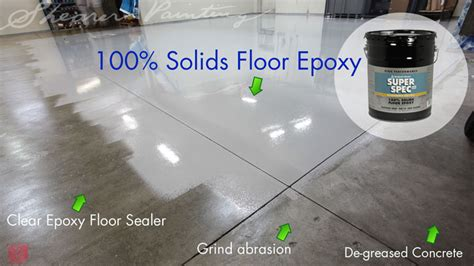 100 Solids Epoxy Floor Coating by Floor Epoxy Benjamin P40 100 Solids Shearer Painting