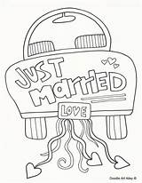 Doodle Coloring Pages Married Alley sketch template