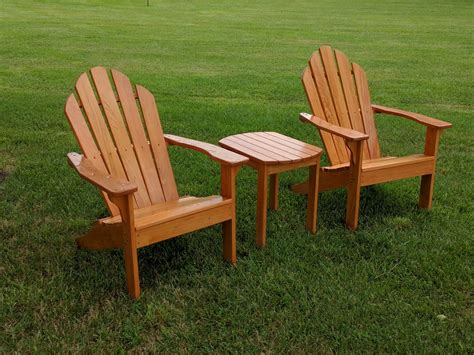 adirondack table and chairs adirondack side table woodbin