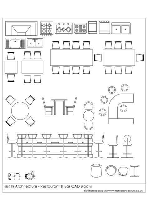 Free CAD Blocks - Restaurant and Bar