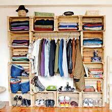 recicla armario cajas fruta decoracion cajas de madera muebles mueble con huacales y closet