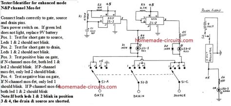 Simple Mosfet Tester Sorter Circuit Homemade
