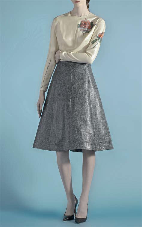 lyst vika gazinskaya sparkle dress with three printed tattoos in gray