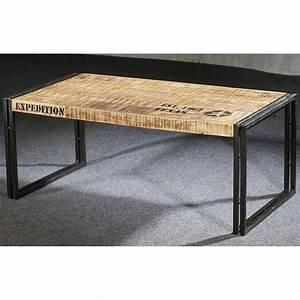 Table Basse Longue : table basse longue style industriel mobilier style ~ Teatrodelosmanantiales.com Idées de Décoration
