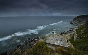 Download wallpaper Rocks, sea, evening free desktop ...