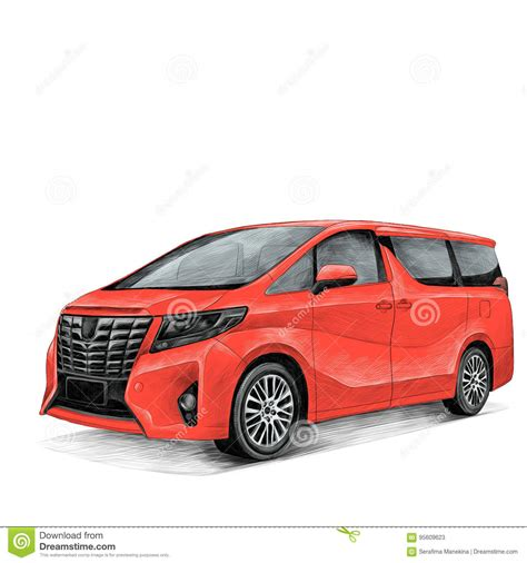Toyota Alphard Backgrounds by Car Toyota Alphard Sketch Editorial Stock Photo Image Of
