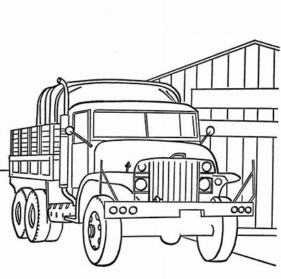 Coloring Military Pages Vehicles Transportation Sheets Drawing