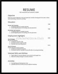 Exles Of Resumes For Teenagers by Resume Template Template Design