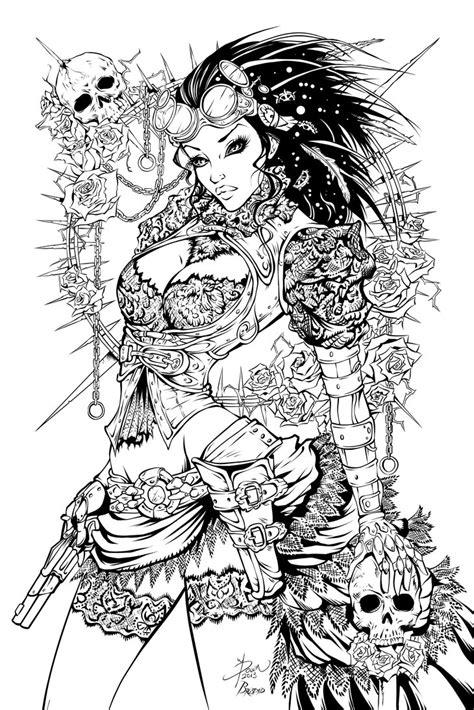 Lady Mechanika Inks by Fendiin on DeviantArt
