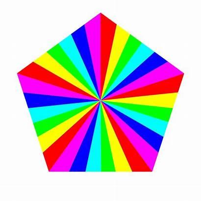Pentagon Clipart Clip Shapes Shape Rainbow Arts