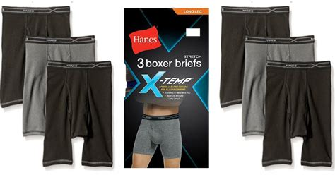 Hanes X-temp Boxer Briefs 3-pack Only $13.49