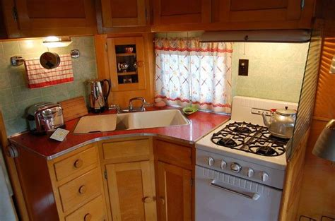 cer trailer kitchen ideas perfect little kitchen in a perfect little vintage cer looks like an owosso cer
