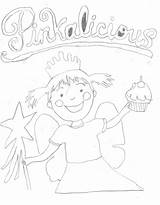 Coloring Pinkalicious sketch template