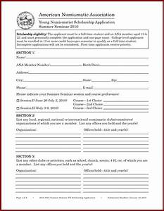 Scholarship application template template business for Scholarship forms template