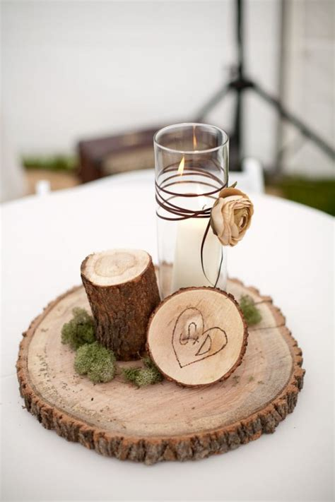 pine cone place card holders for rustic 12 country wedding wood centerpieces unique cheap