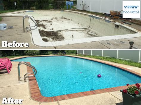 pool before and after arrow pool renovations before and after villanova bryn mawr gladwyne swimming pools