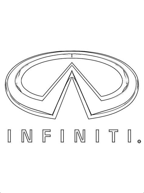 logo de infiniti  colorier coloriage  imprimer gratuit