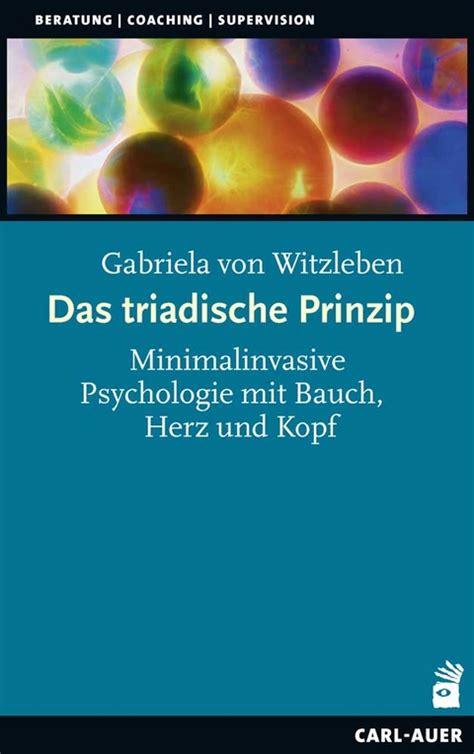 Das triadische Prinzip von Gabriela von Witzleben | ISBN 978-3-8497-0281-6 | Fachbuch online ...