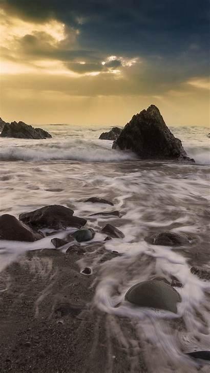 Iphone Ocean Owen Rock Sunset Beach Nature