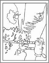 Beaver Coloring Dam Template sketch template