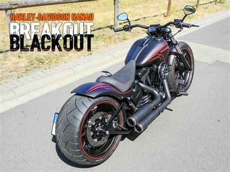 harley davidson umbau softail breakout umbau blackout custombike harley davidson hanau