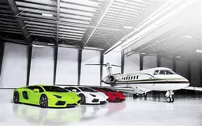 Private Lamborghini Garage Luxury Plane Supercars Hangar