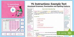 Y4 Instructions Model  Example Text