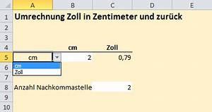 Cm In Zoll Berechnen : excel inside solutions umwandeln von zoll in zentimeter ~ Themetempest.com Abrechnung