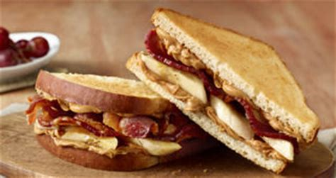 Apple Bacon And Peanut Butter Sandwiches by Cudahy Bacon Peanut Butter Banana Sandwich Recipe